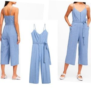 Banana Republic Chambray Cropped Jumpsuit